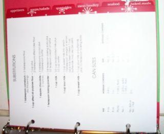 Holiday Recipes Refillable Recipe Organizer Book w/32 Recipe Cards
