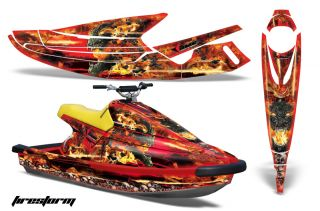JET SKI GRAPHIC KIT WRAP YAMAHA WAVE BLASTER PARTS 93 96 FIRESTORM RD