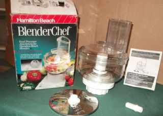Blender Chef   Food Processor Attachment for Hamilton Beach Blenders