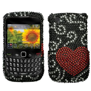 Blackberry 9330 9300 8530 8520 Curve 3G Bling Rhinestones Case Cover