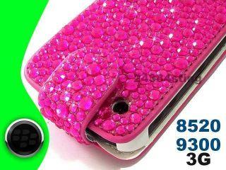 Diamond Bling Gem Flip Case Cover for Blackberry Curve 8520 9300 9330