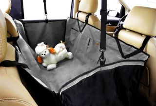 Dog Car Seat Cover Backseat Hammock Waterproof Grey Double Material