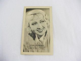 Joan Blondell Golden Grain Tobacco Card 1930s