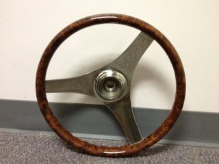 "13"" Woodgrain Boat Steering Wheel"