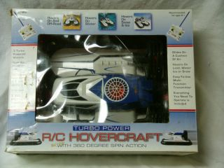 RC Hovercraft Air Powered Boat In Box new Batteries Excellent Working