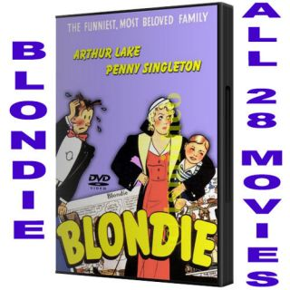 free blondie and dagwood complete 28 movie dvd set new