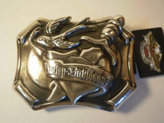 Harley Davidson Belt Buckle Bird Heart Knife Biker Motorcycle New