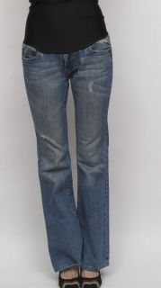 True Religion Bobby Flare Buddah Blue Stretch Maternity Denim Jeans