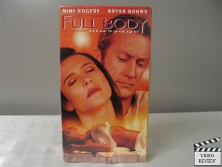 Full Body Massage VHS Mimi Rogers Bryan Brown 097368334533