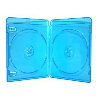 New 25 Blue Blu Ray Disc Double DVD CD Case Movie Box