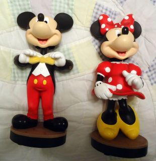 Disney Large Mickey Minnie Mouse Bobblehead Figures