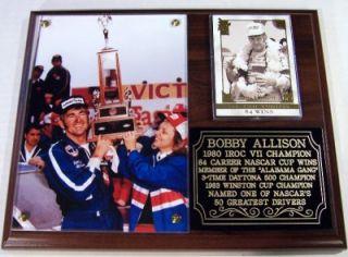 Bobby Allison Alabama Gang NASCAR Photo Plaque Winston Cup Daytona 500