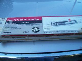 30 inch Cadet 220 Volt Baseboard Heater Never Used