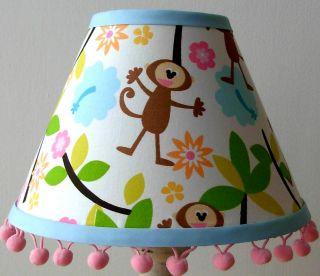 Happy Island Monkey Lamp Shade M w Laura Ashley Child Baby Bedroom