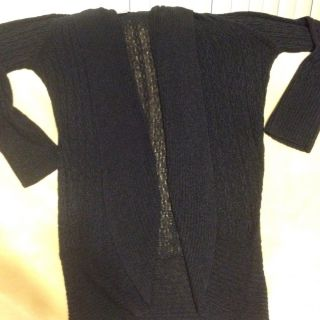 Coldwater Creek Navy Blue Sweater Duster Large