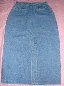 NWT MOUNTAIN LAKE Light blue Jeans Full Length Long Denim Pencil Skirt