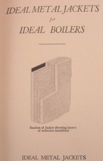 American Radiator Catalog Ideal Boiler Asbestos Cement