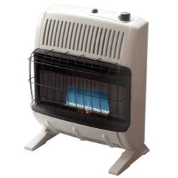 Heater Inc F255682 Vent Free 20 000 Btu Blue Flame Natural Gas Heater