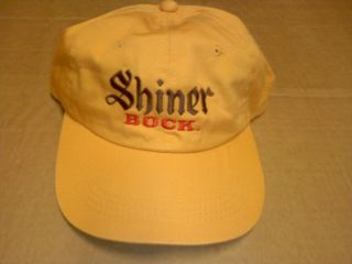 NEW Shiner Bock Beer Ball Cap Hat Embroidered