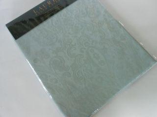 RALPH LAUREN Paisley Damask ice blue fabric SHOWER CURTAIN new light