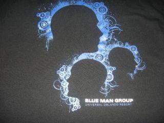 nwot universal blue man group adult medium t shirt