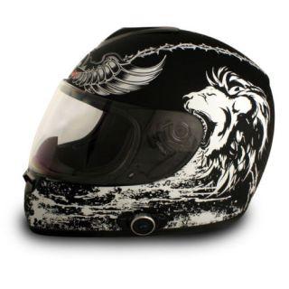 Bluetooth Full Face Motorcycle Helmet Large L 2SPEAKER