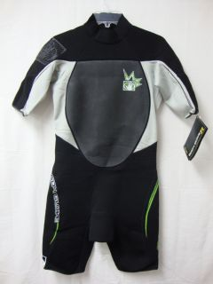 Body Glove Full Body Short Sleeve Wetsuit Black Grey Mens L or XL