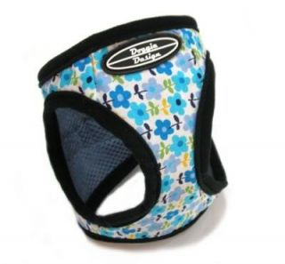 CHOKE FREE Dog Harness Doggie Design Step In Vest BLUE BELLS Print