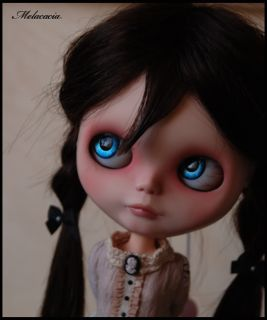 OOAK Human Hair Custom Blythe Art Doll by Melacacia