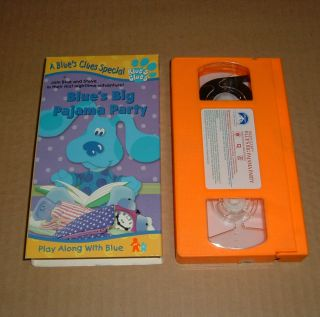 Blues Clues Blues Big Pajama Party VHS 1999