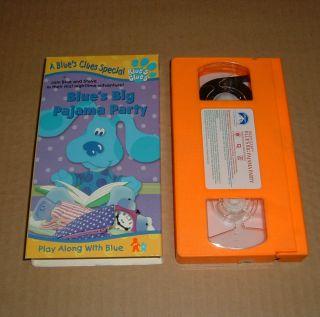 Blues Clues Blues Big Pajama Party VHS 1999