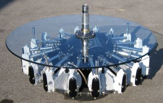 Aircraft Radial Engine Coffee Table Lycoming Boeing & Rolls Royce