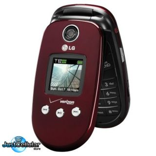 New LG VX8350 Red Verizon Page Plus Bluetooth GPS Camera Cell Phone No