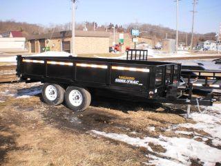 Used Demo Model Sure Trac 8 x 14 Dump Trailer 14,000# Deckover drop