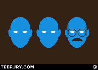 NEW OOP TeeFury Womens M Bluth Man Group Blue Parody Cross Arrested