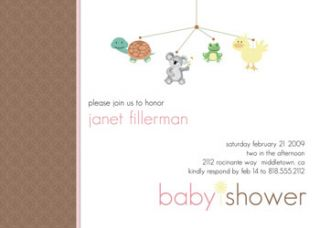 Baby Shower or Bridal Invites Invitations Pink Brown Polka Dots Free