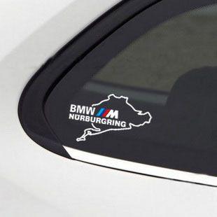BMW M NURBURGRING M3 M5 M6 325 328 540 Window Decal sticker emblem