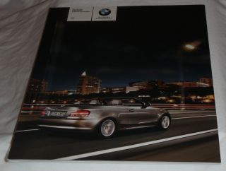 BMW 1 Series 2008 Convertible 128i and 135i models Sales Catalog