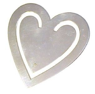 james avery sterling silver heart bookmark 1 3 4