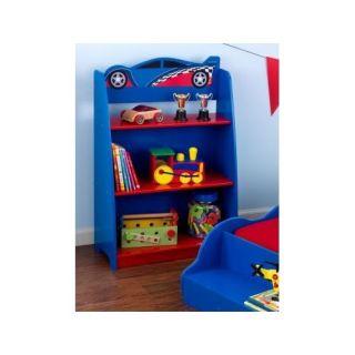 Racecar Bookcase KidKraft 76042 Child Blue Car Wood Kids