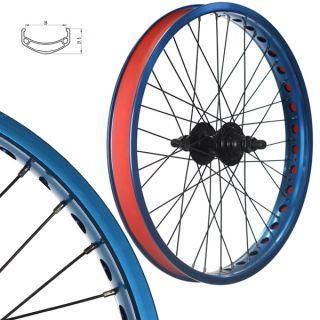 Alloy BMX Bike Wheels Wheelset Narrow Rims Blue