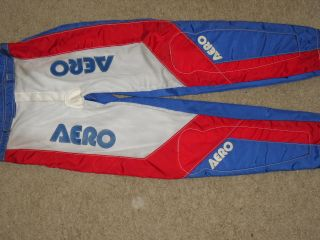 Old School Aero Racing Gear Pants BMX Bike Red White Blue USA Colors