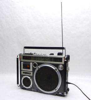 RC 550JW PORTABLE RADIO STEREO CASSETTE TAPE BOOMBOX RECORDER PLAYER