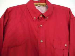 BOB ALLEN MENS LONG SLEEVE SHOOTING SHIRT RIGHT HANDED SIZE L RED