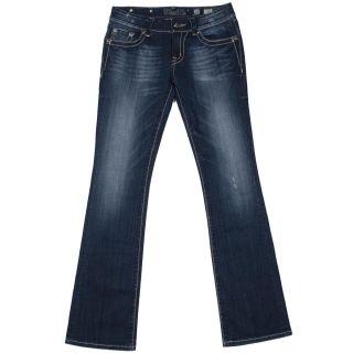 Miss Me Dark Crystal Stitch Boot Cut Jeans