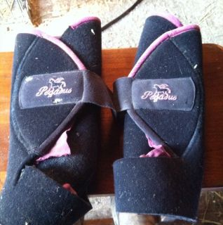 Pegasus Horse Sports Medicine Boots Black Pink Size Large