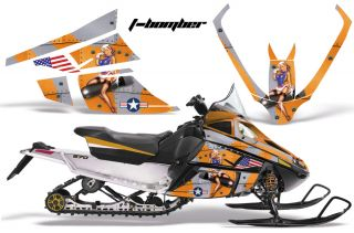 Snowmobile Sled Sticker Wrap Kit Arctic Cat F Series Z1
