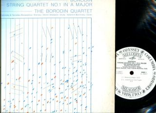 Borodin LP Odyssey Melodiya DJ Promo String Quartet in A Major USSR