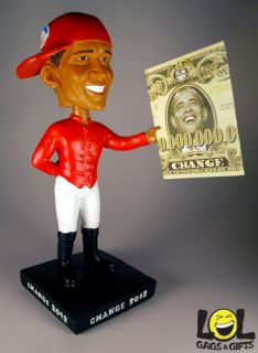 out of the hood get this obama lawn jockey bobble head wearing his