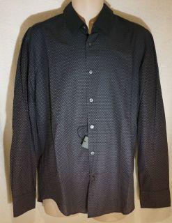 Hugo Boss Black Mens Blue Ronny 12 Patterned Shirt New